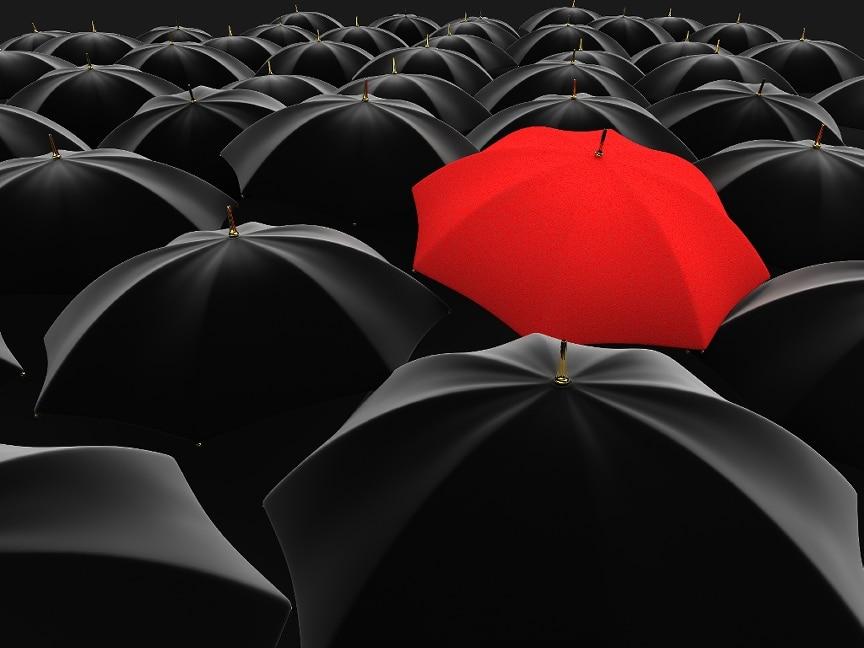 individual differentiate independent separate unique umbrella