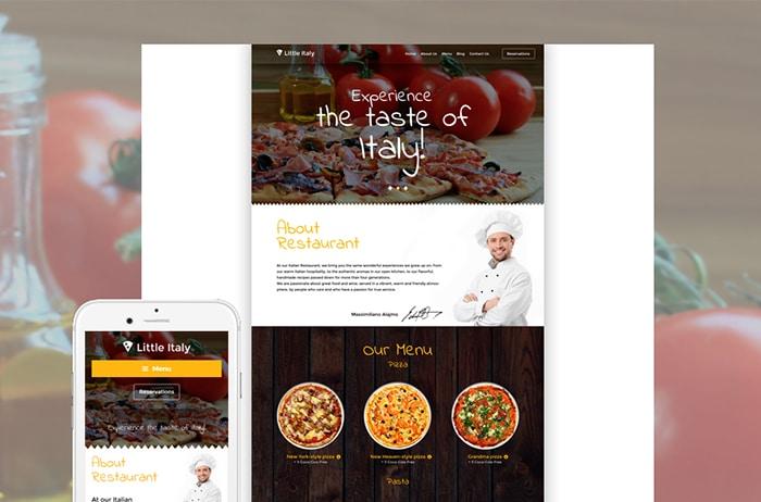 Italian Restaurant WordPress Template