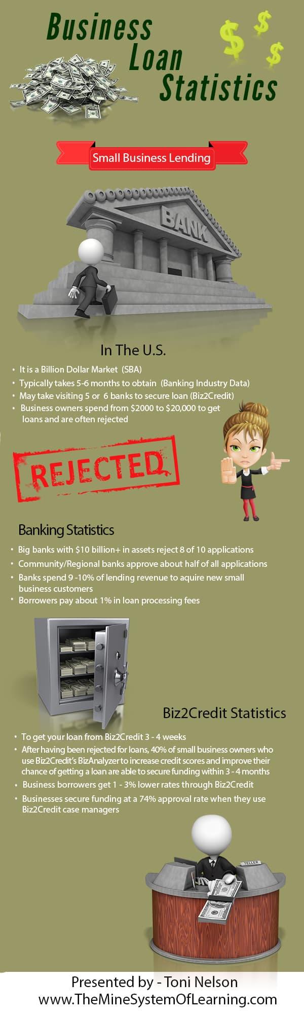 business loan statistics infographic