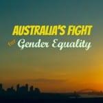 australia woman skyline