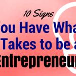 entrepreneur signs