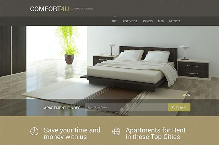 Apartments for Rent WordPress Theme
