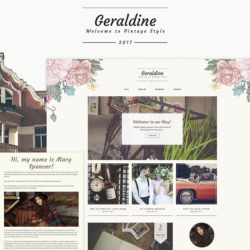 geraldine wordpress theme